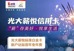 光大银行信用卡薪悦卡标准白金卡活动